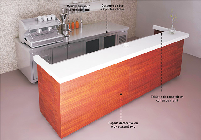 Comptoir De Bar Refrigeree